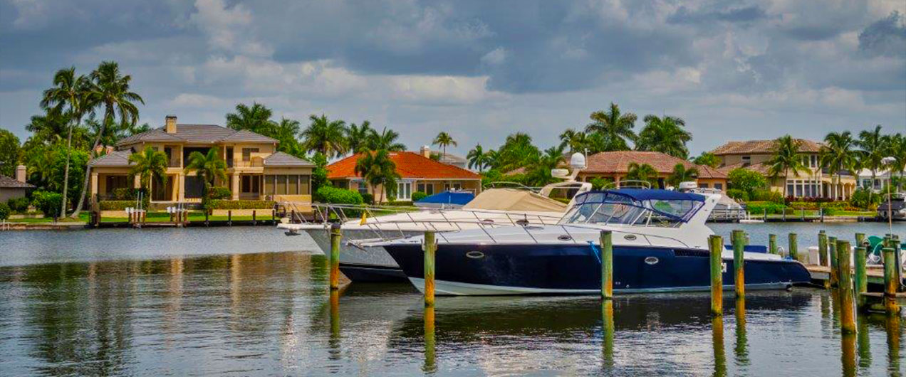 Boat in Harbor | Antilles of Naples, Florida - West Indies Styled Residential Resort