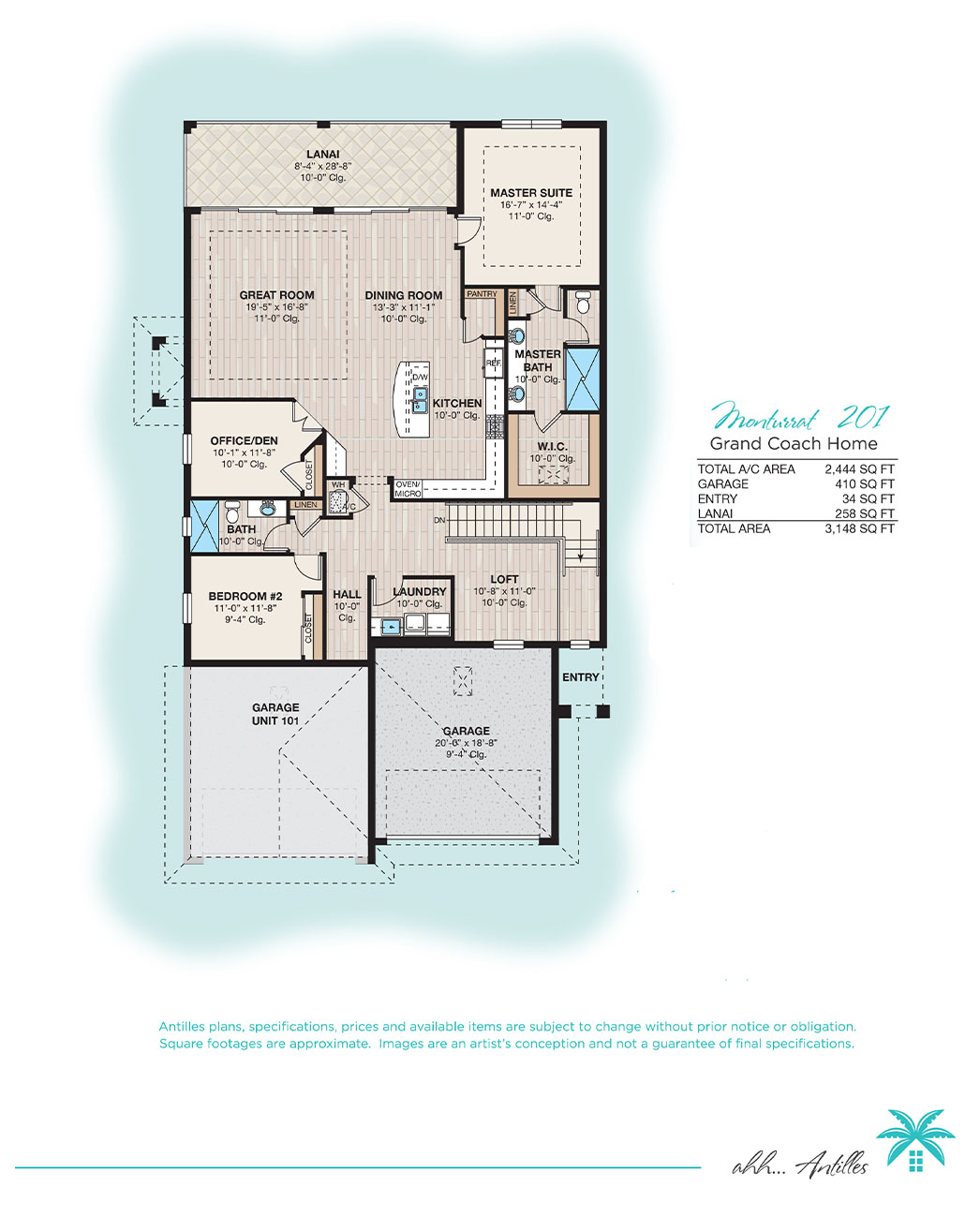 Grand Coach Homes Montserrat 201   Antilles of Naples, Florida - West Indies Styled Residential Resort