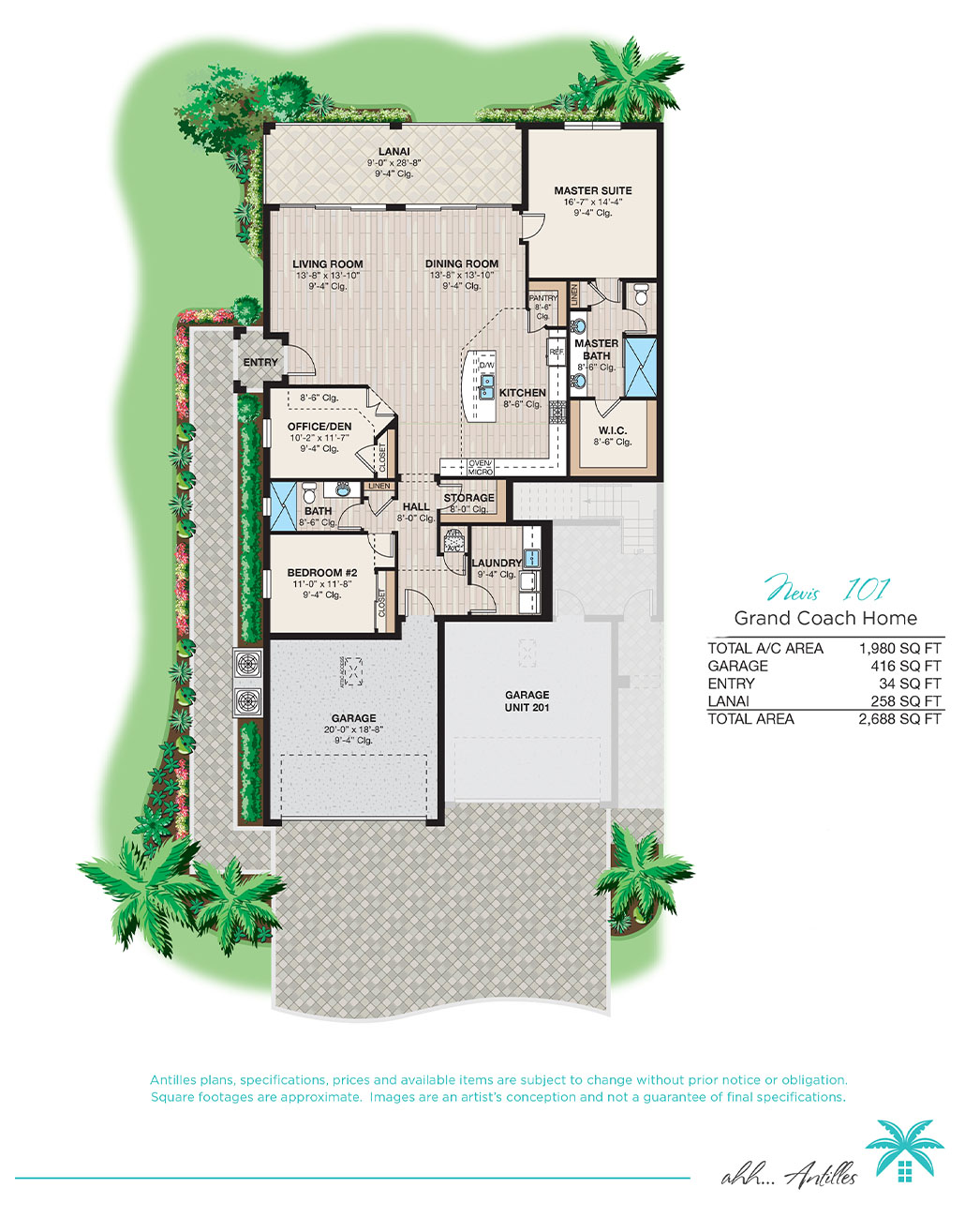Grand Coach Homes Nevis 101 | Antilles of Naples, Florida - West Indies Styled Residential Resort