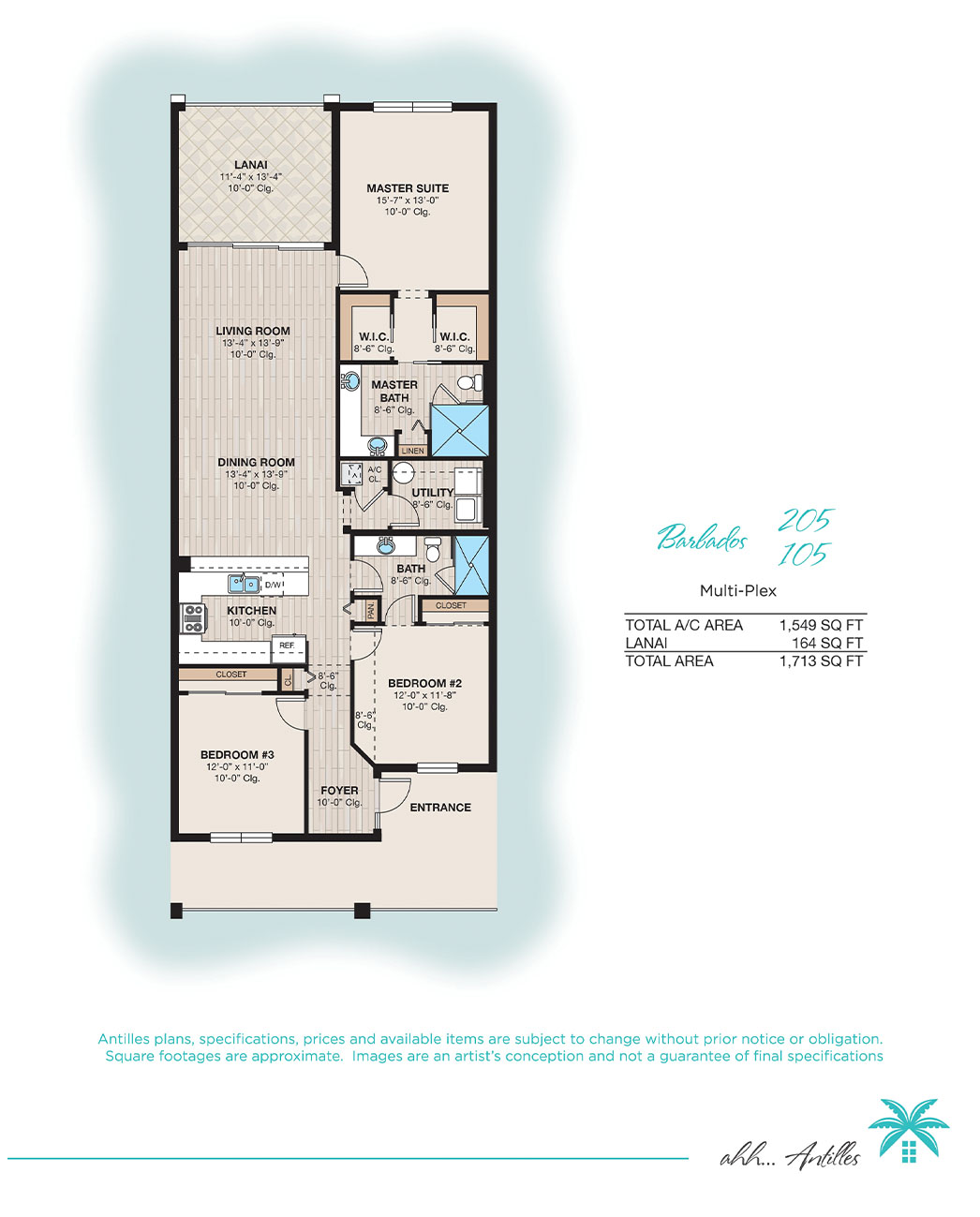 Multi-Plex Barbados 105 | Antilles of Naples, Florida - West Indies Styled Residential Resort