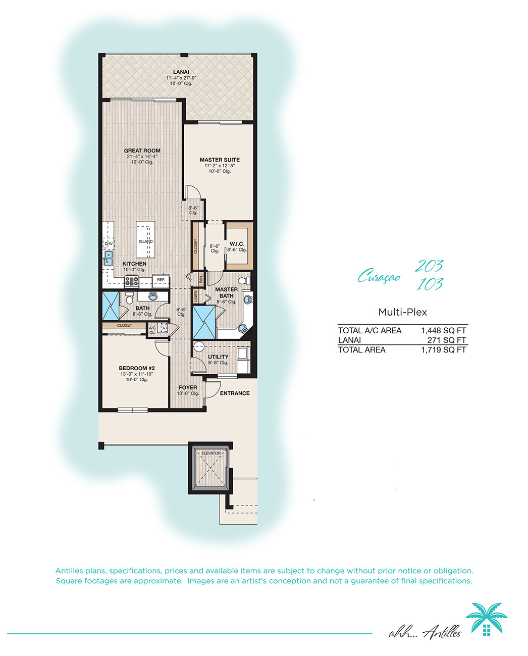 Multiplex Curacao 103 | Antilles of Naples, Florida - West Indies Styled Residential Resort