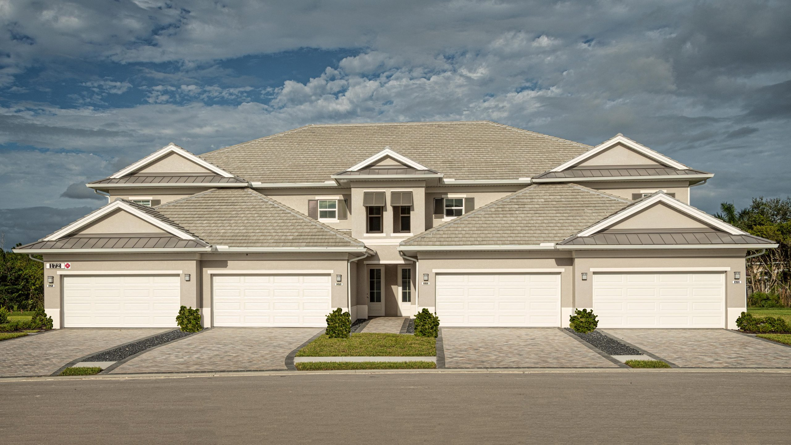 Grand Coach Homes Front View | Antilles of Naples, Florida - West Indies Styled Residential Resort
