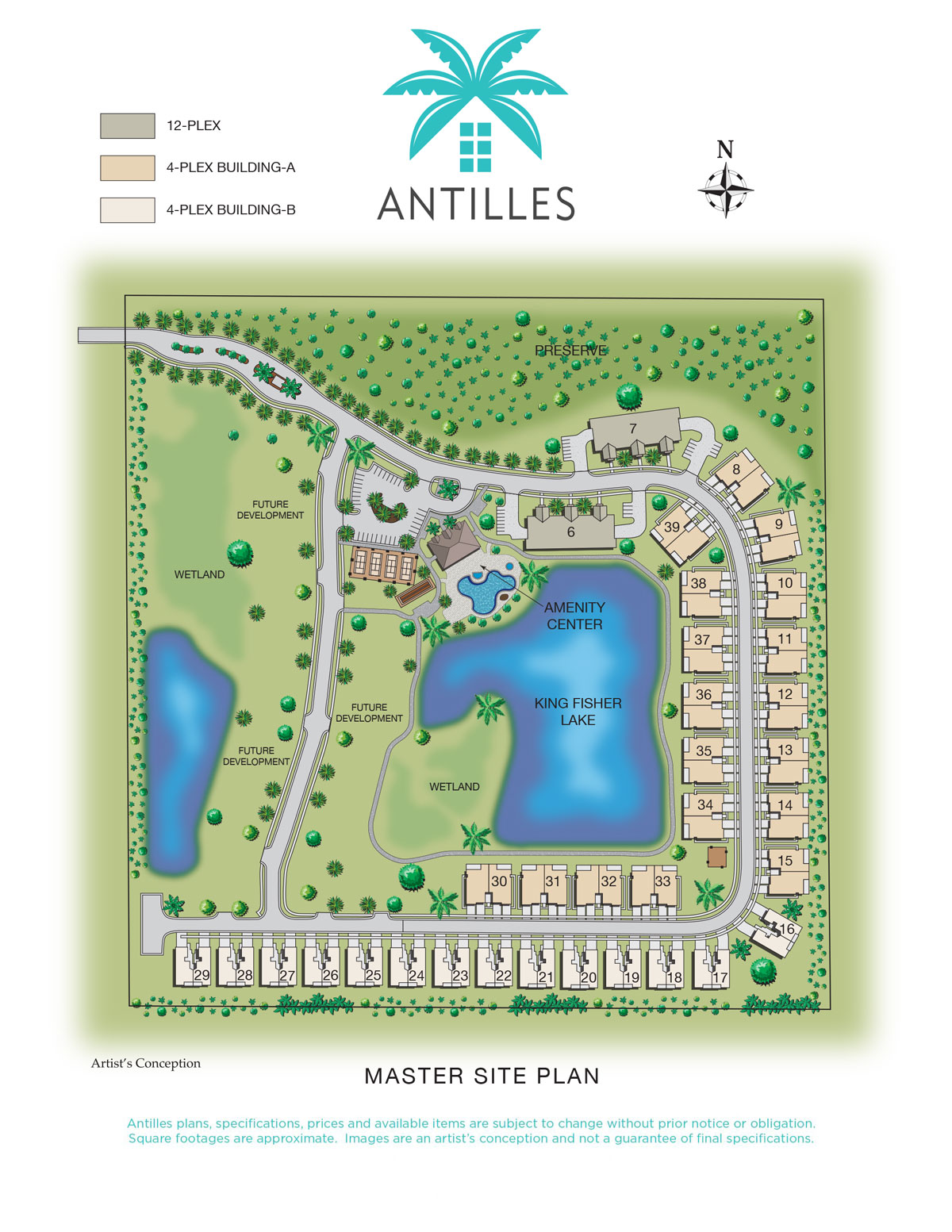 Master Site Plan | Antilles of Naples, Florida - West Indies Styled Residential Resort